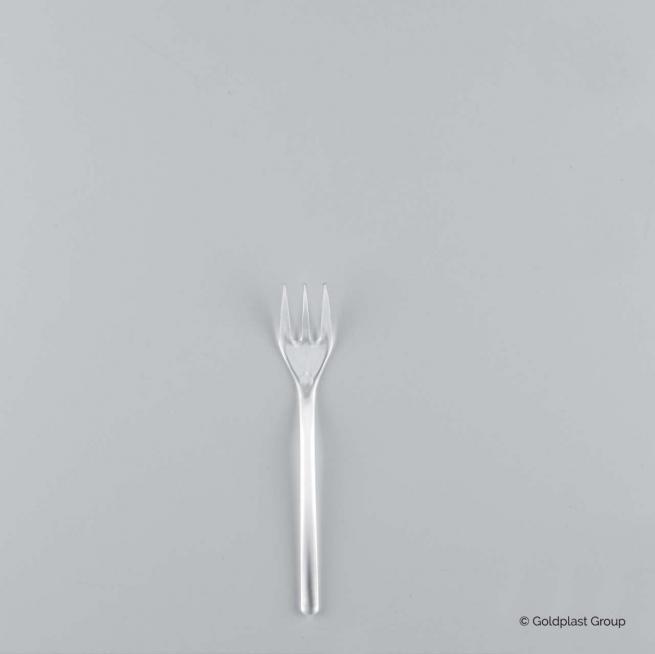 Forchetta mini fingerfood trasparente 100mm confezione da 50 pezzi