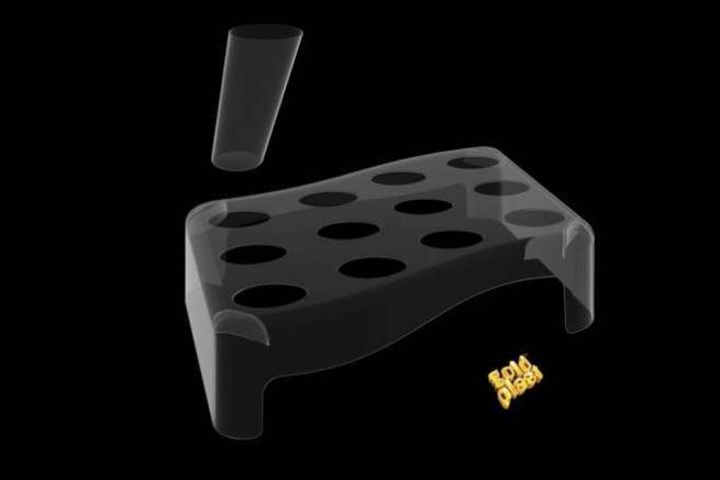 Kit 5 vassoi portata in plastica trasparente + 60 coni design fingerfood
