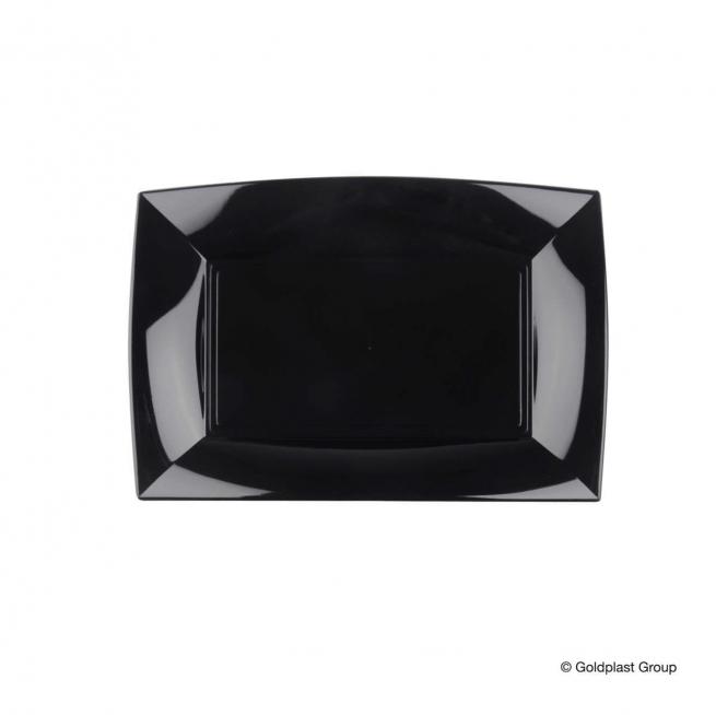 Piatto rettangolare linea nice in plastica PP nero