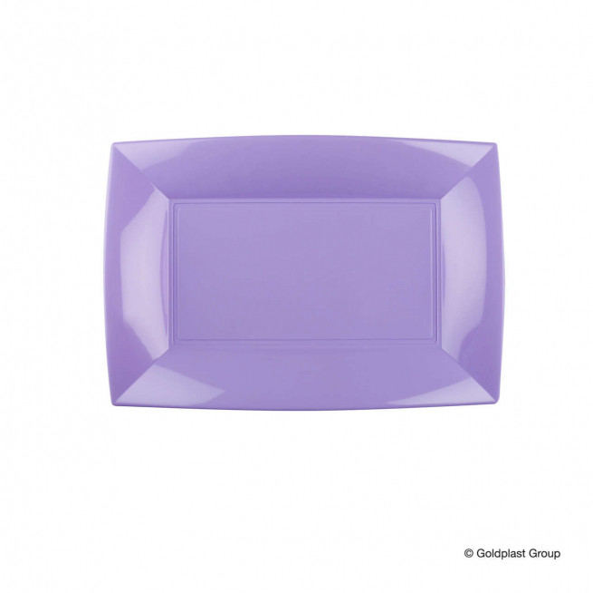 Piatto rettangolare linea nice in plastica PP colorazioni pastello
