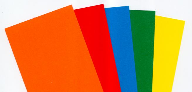 Risma di carta copytinta mixforti da 160 gr/mq, in formato A4, in confezione da 100 pezzi