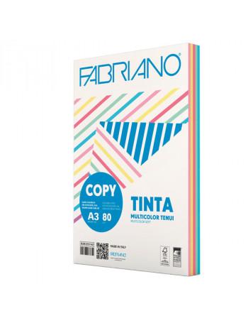 Risma di carta copytinta mixtenui da 80 gr/mq, in formato A3, in confezione da 250 pezzi