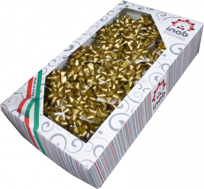 Coccarda stella adesiva mat color oro confezione da 100 pezzi