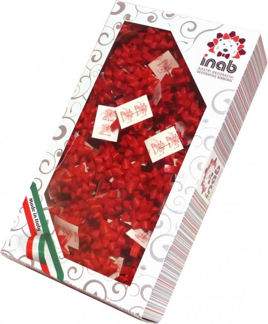 Coccarda stella adesiva mat color rosso confezione da 100 pezzi