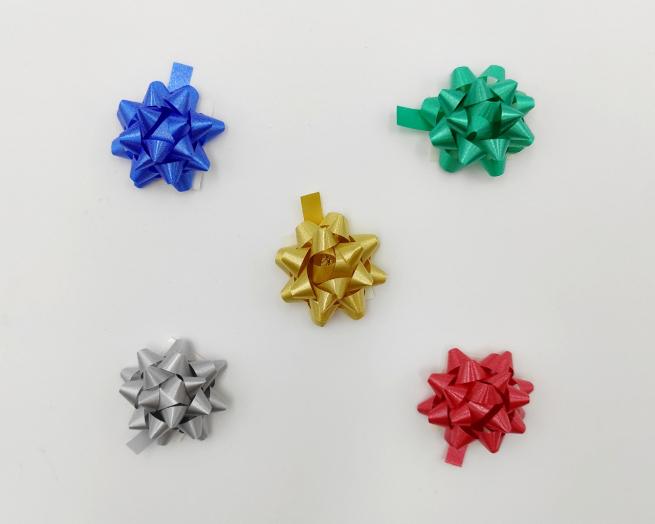 Coccarda stella adesiva diamant tinte scure assortite confezione da 100 pezzi