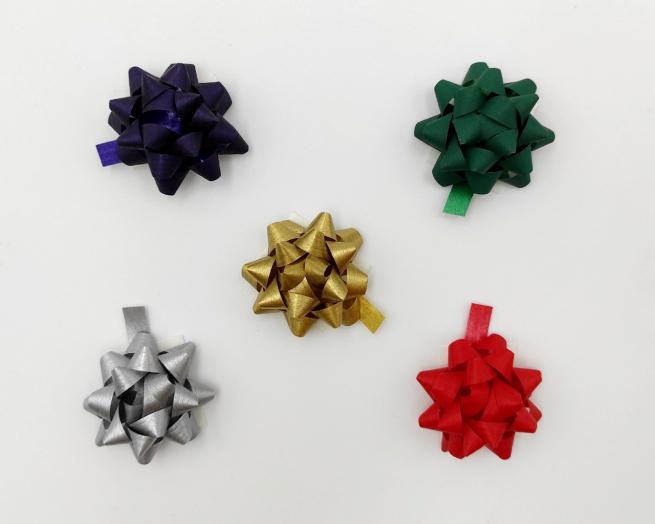 Coccarda stella adesiva mat color tinte scure assortite confezione da 100 pezzi
