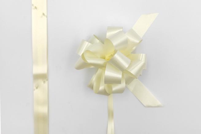 Coccarda laccio velox diamant avorio confezione da 30 pezzi