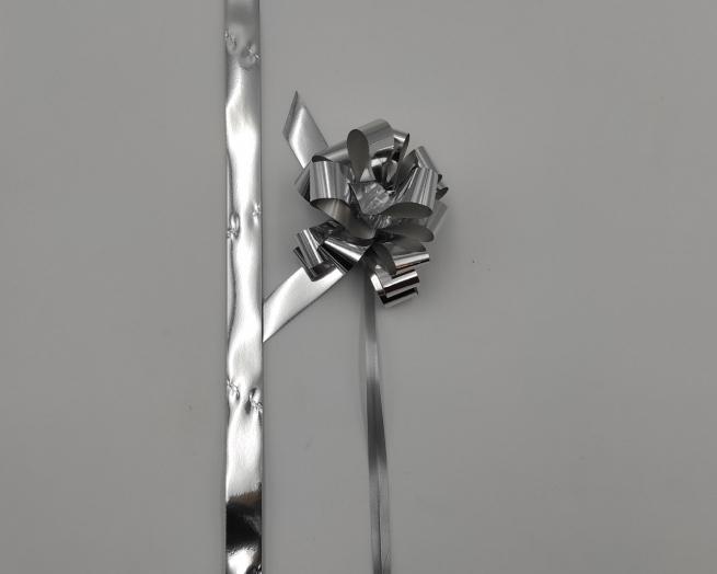 Coccarda laccio velox lux argento metallizzato