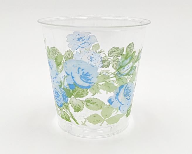 Bicchiere plastica 300cc fantasia eden blu confezioni da 10 pezzi