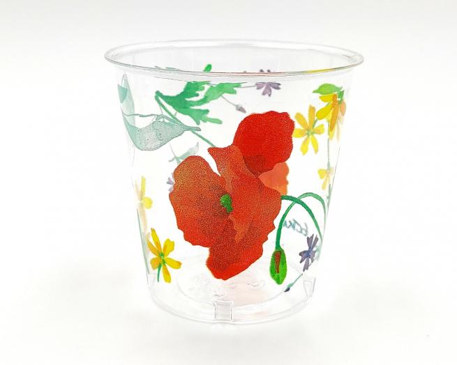 Bicchiere plastica 300cc fantasia tulipani confezione da 10 pezzi