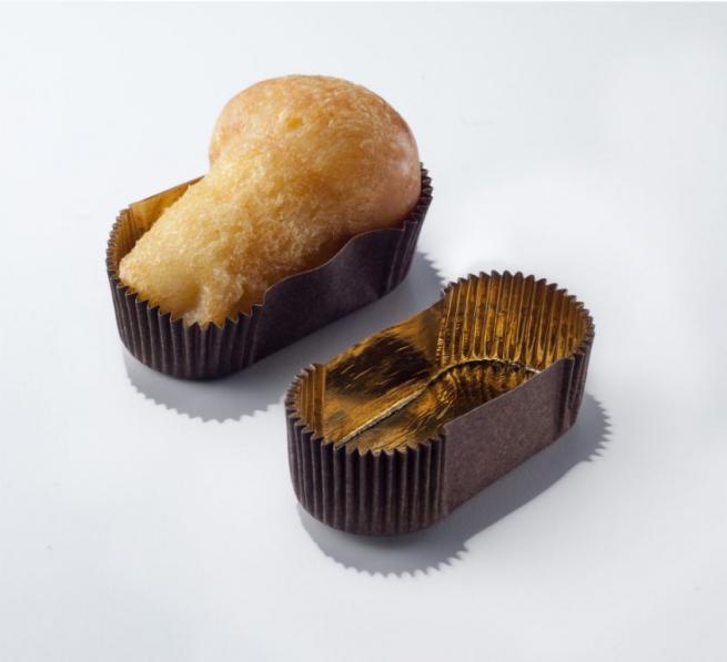 Pirottino ovale marrone con interno oro impermeabile, confezione da 1000 pezzi