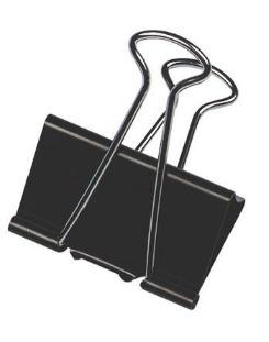 Fermaglio clip nero, confezione da 12 pezzi