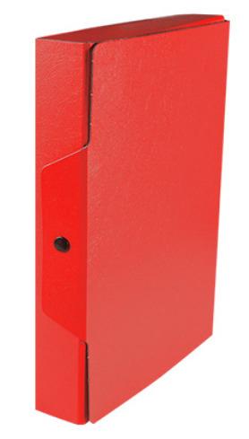 Portaprogetto in fibrone, dorso 6, colore rosso