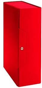 Portaprogetto in fibrone, dorso 10, colore rosso