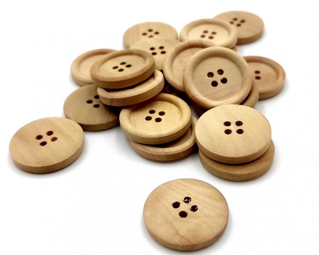 Bottoni legno grandi, confezioni da 20 pezzi