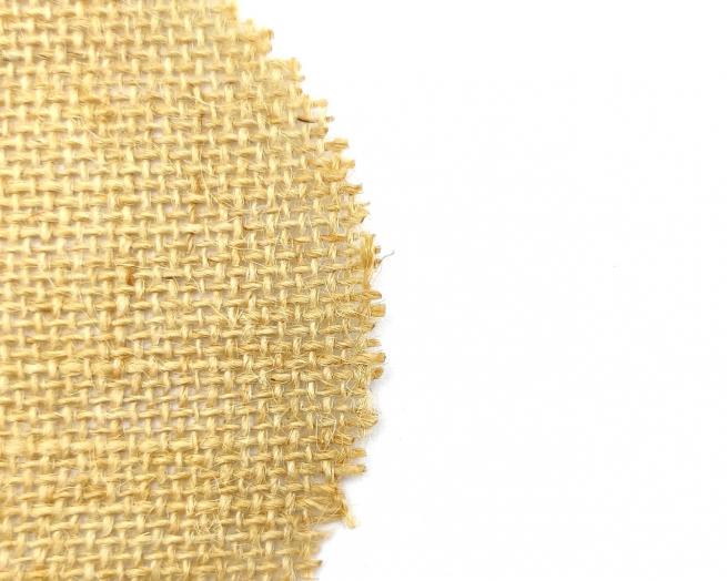 Tela juta rotonda, diametro 10cm, confezione da 100 pezzi