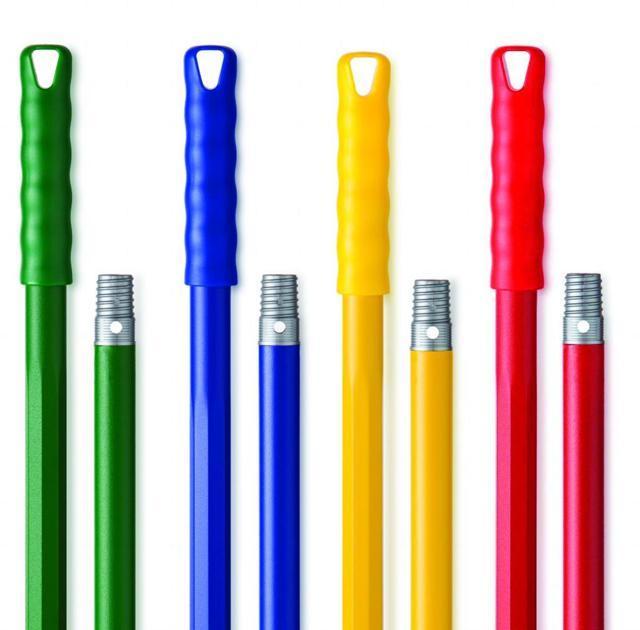 Manico in plastica ottagonale in diverse colorazioni, h 140 cm