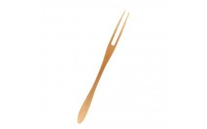 Forchettina stilizzata due punte in bamboo 16.5cm confezione da 50 pezzi