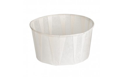 Coppetta in carta plissettata bianca antiunto confezione da 250 pezzi