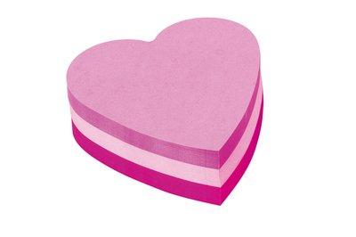 Blocco  fogli notes a forma di cuore fogli