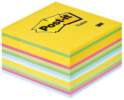 Post-it cubo fluo 7.6x7.6 cm multicolor