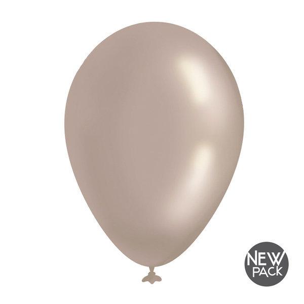 Palloncino diametro 35cm colore argento metallizzato confezione da 12 pezzi