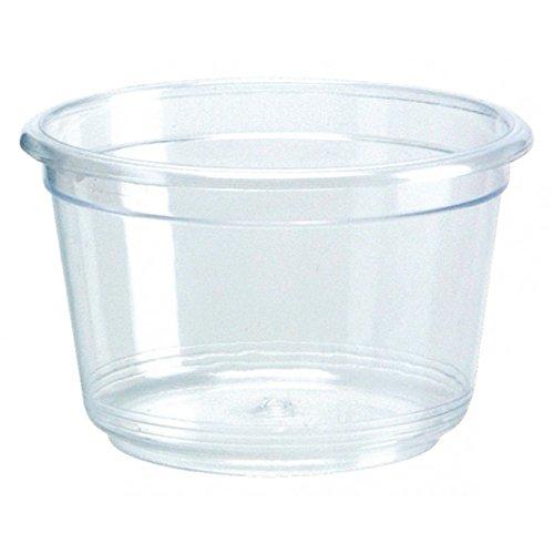 Mini vaschetta trasparente da 30cc per salse e condimenti confezione da 50 pezzi