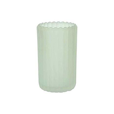 Vaso vetro bianco satinato porta candela linea patio confezione da 6 pezzi