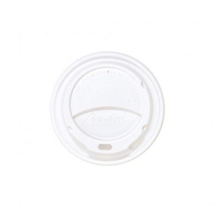 Coperchio in plastica bianca con beccuccio per bicchieri in cartoncino con capienza 6oz confezione da 100 pezzi
