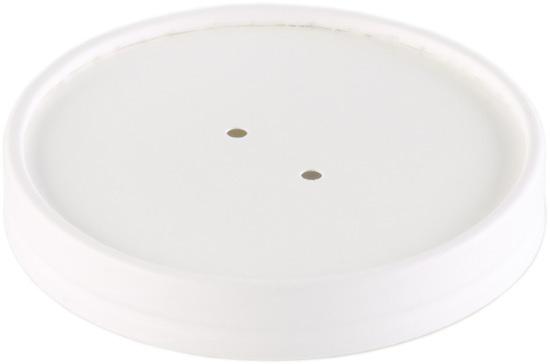 Coperchio per barattolo cartoncino bianco per asporto zuppe/brodo/minestre uso caldo