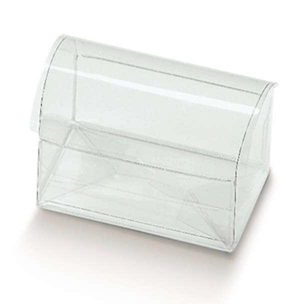 Cofanetto in plastica trasparente, confezione da 10 pezzi