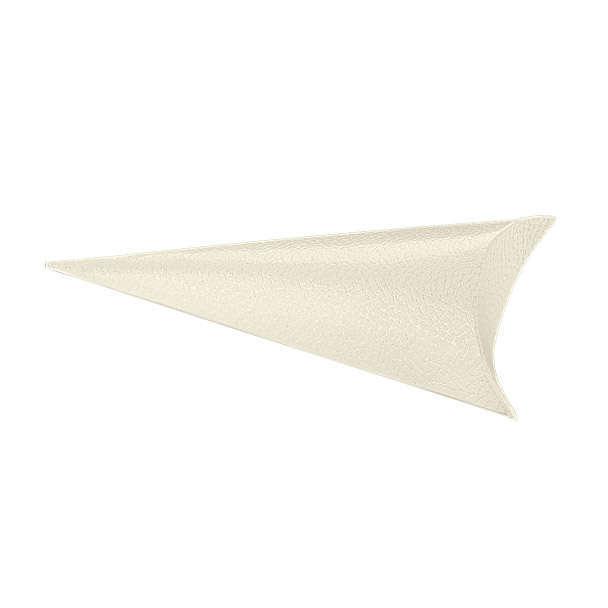 Cono porta confetti in cartoncino bianco perlato, 75x190mm, confezione da 10 pezzi