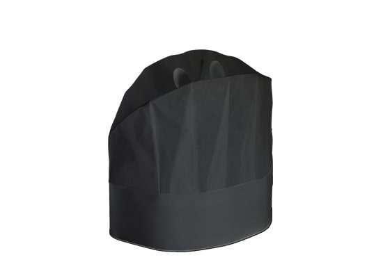 Cappello grande chef prestige h. 25 cm in viscosa nero confezione da 20 pezzi