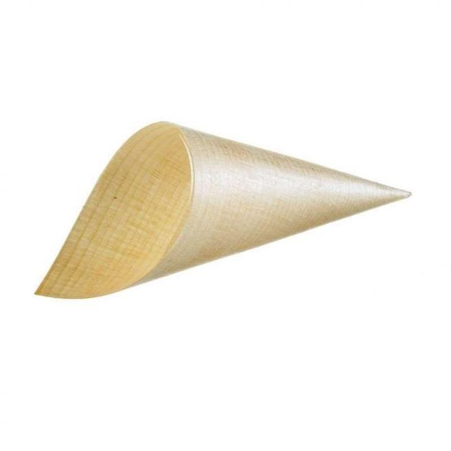 Cono in legno take away confezione da 50 pezzi