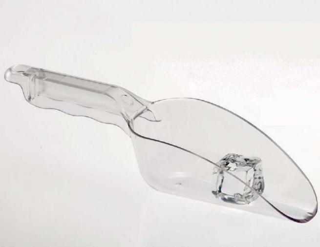 Paletta in policarbonato trasparente 26 cm.
