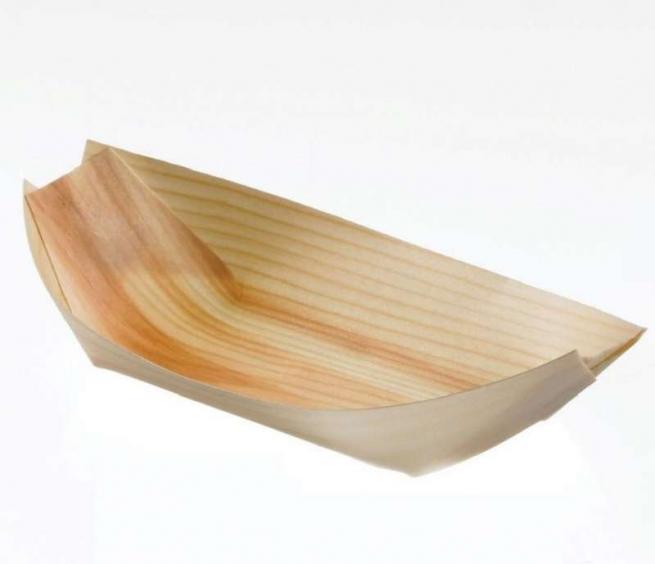 Barchetta monoporzione in legno confezione da 50 pezzi
